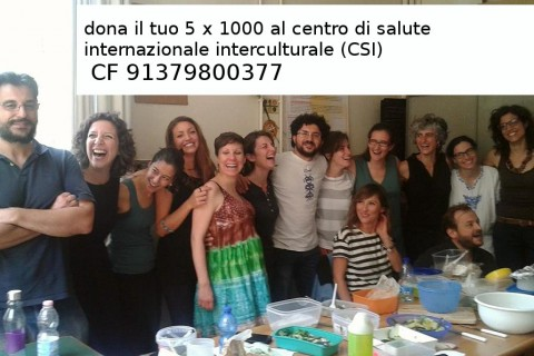 5×1000 al Centro di Salute Internazionale e Interculturale (CSI)