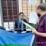 Richiesta di scarcerazione per il machi Celestino all'ambasciata Cilena di Roma
