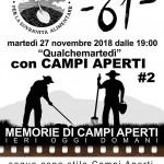 MEMORIE DI CAMPI APERTI, OGGI IERI DOMANI martedì 27 Novembre