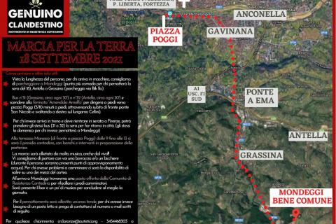 """Firenze-Modeggi """"Marcia per la Terra"""" 17-18-19 Settembre"""